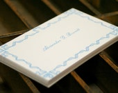 Business / calling cards - letterpress printed with a ribbon border (set of 50)