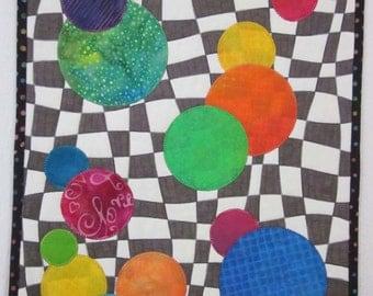 Bouncing Bubbles Art Quilt