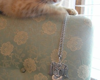 Dangly Dog Necklace from the late 60s. Eyes, Tail & Ears all Wiggle--too cute