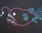 Anglerfish Hand Embroidery Pattern PDF