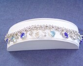 Crystal Blue Pools Charm Bracelet