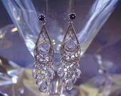 Crystal Clear Swarovski Chandelier Earrings