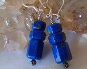 Ancient Goddess Lapis Lazuli  Earrings