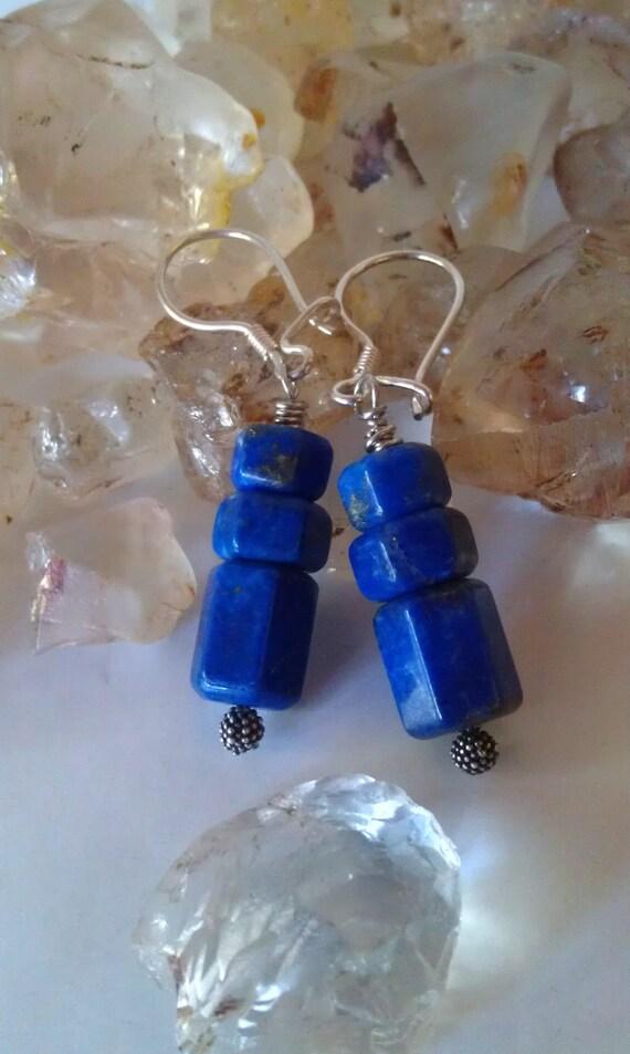 Ancient Goddess Lapis Lazuli  Earrings