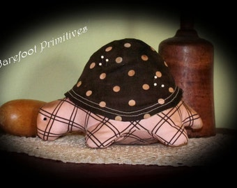 Turtle Pin Cushion pin keep Primitive