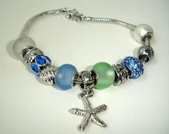Chrystal blue - charm bracelet - Seastar