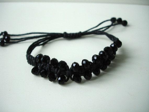 Black macramee bracelet