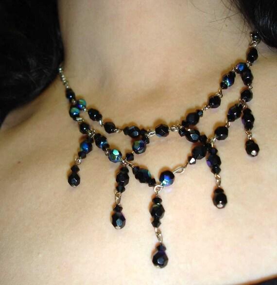 Black Swarovski necklace