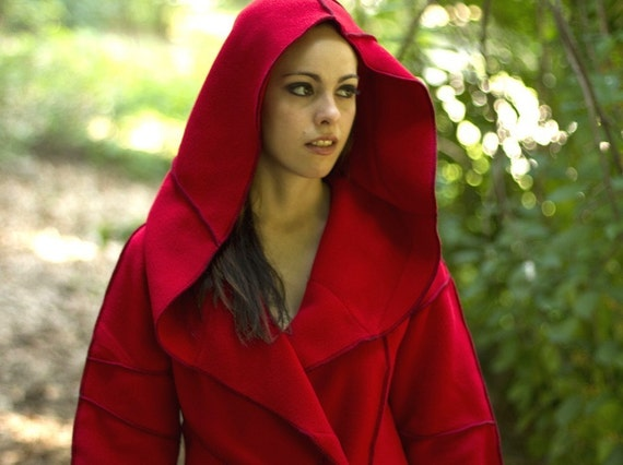 Recycled Fleece Autumn Jacket  with Hood- made to order, vegan, plus-sizes available