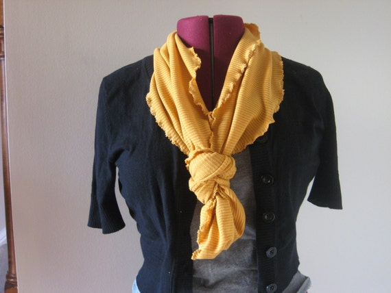 Infinity scarf in mustard sophisticate fashion