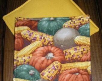 Pumpkins and Indian Corn Hot Pad