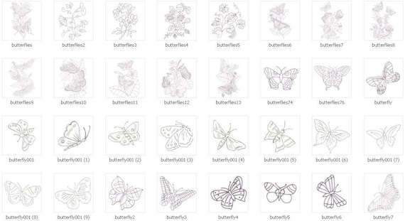 1000 Embroidery Patterns on CD, Adult Coloring Pages, Butterflies, Bouquets, Plants, Mushrooms, Rose designs # Flowers to Hand Embroider