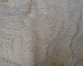 white chenille cutter coverlet for crafting projects - queen sized