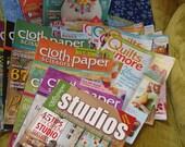 Large collection of recent fiber art magazines - Cloth Paper Scissors, Stitch, Quilting & More