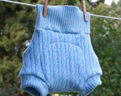 Noras Knickers Recycled upcycled re purposed Lambswool wool shorties cloth diaper cover soaker pants