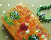 Valentine's Day Froggy Love Resin Necklace