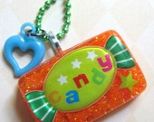 I Want Candy Resin Necklace