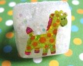 Happy Giraffe Resin Ring