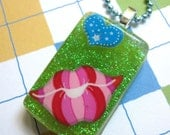 Valentines Day Smack Kiss Resin Necklace