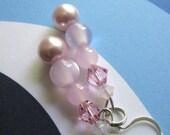 Light Pink Beaded Earrings