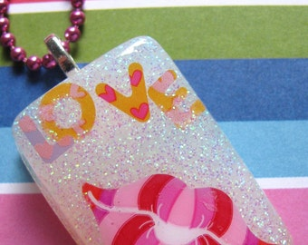 Valentine's Day Lovely Lips Resin Necklace