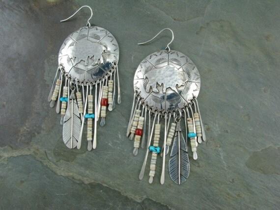 Buffalo sheild earrings