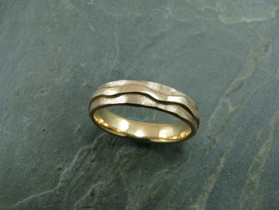 18k yellow gold river ring