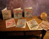 Whimsical Set of Dollhouse Vintage look Sheet Music