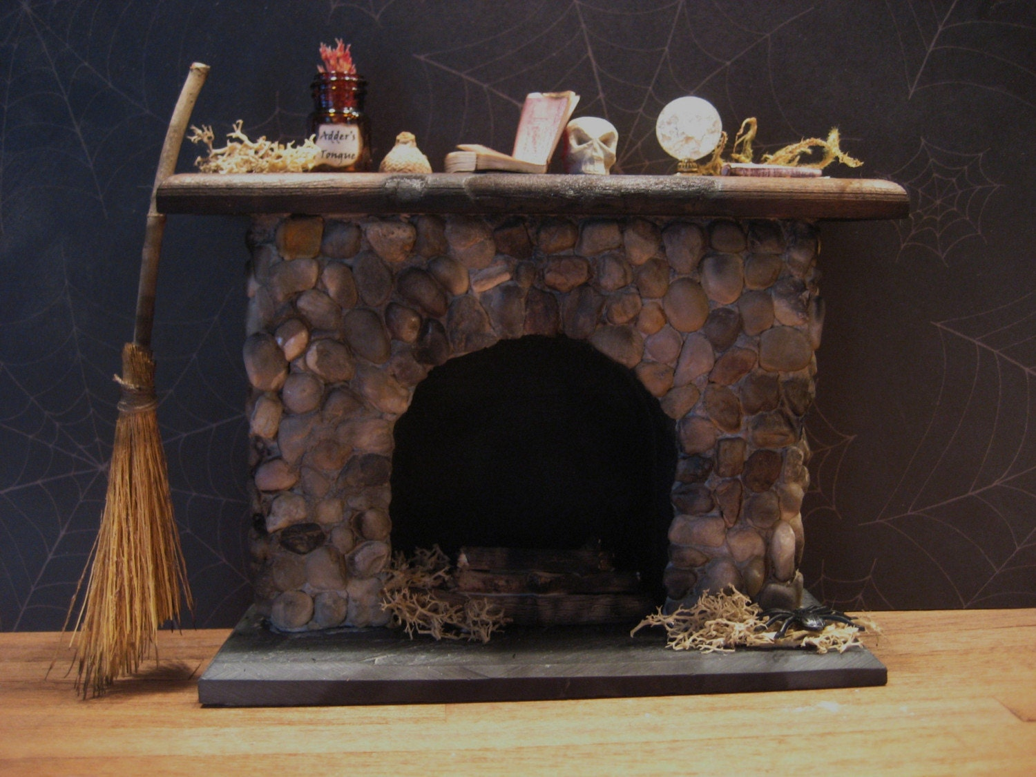 Witch S Fireplace For Haunted Dollhouse By Lilwitchy On Etsy