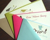 16 Personalized Stationery Flat Cards - Variety Pack