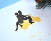 25 PERFECT OFF - 2011 Le Papier Studio Romantic Silhouettes Desktop Calendar with Case