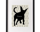 Custom Pet Silhouette Print from your photograph, Dog, Cat Silhouette, Furry Friend, Pet Profile