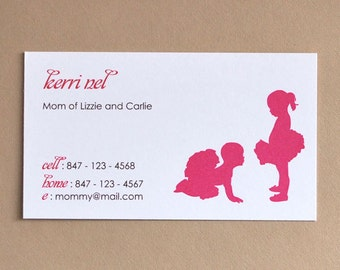 Silhouette Business Cards - Calling Cards - Gift Set - Mommy Cards