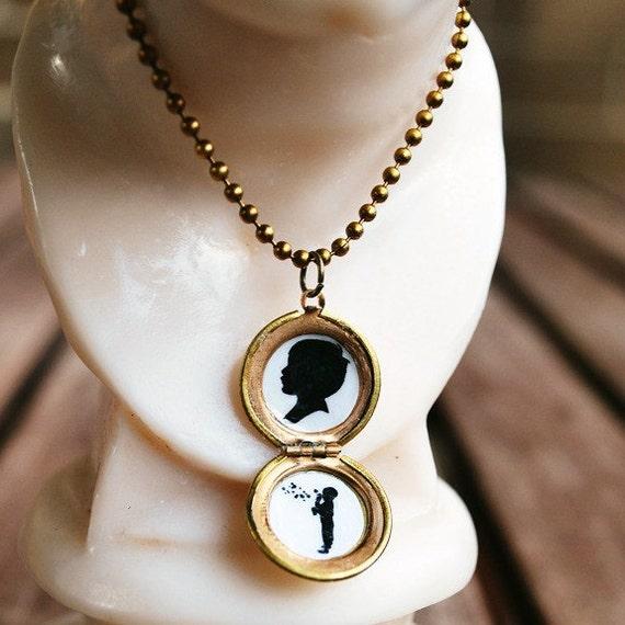 Custom Silhouette Locket Necklace
