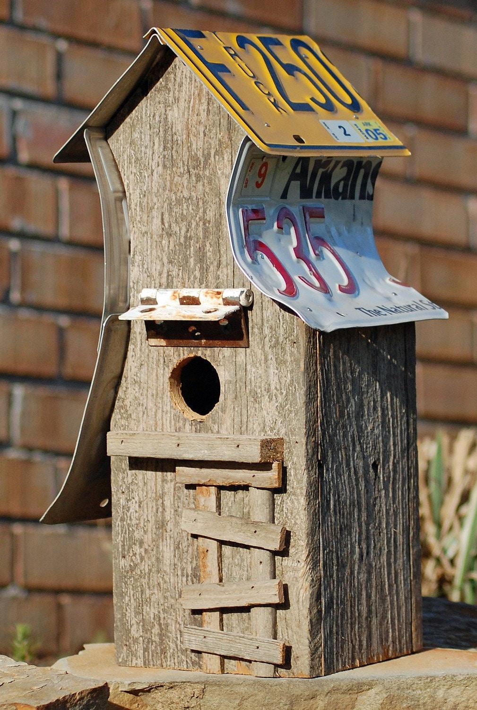 Tall Weathered Birdhouse