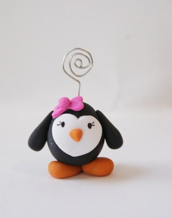 Penguin Photo Holder Place