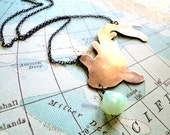 Feeling Koi - Brass, Sterling and Peruvian Opal Necklace