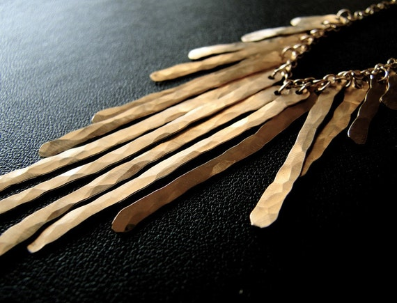 Metallic - Gold Fringe Necklace