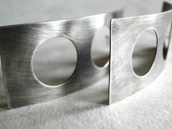 Aperture Earrings I - Sterling Silver