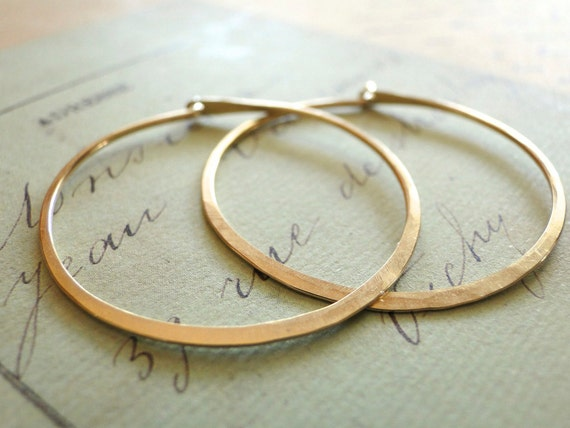 Gold Hoop Earrings, Gold Hoops