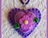 Heart Pendant with matching cord chain no. 4