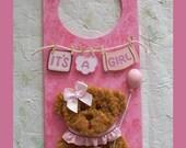 Baby Girl Door Hanger