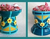 Teal Candy Dish / flip it to hold more or less candy