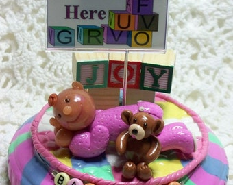 Baby Girl Figurine Photo Holder