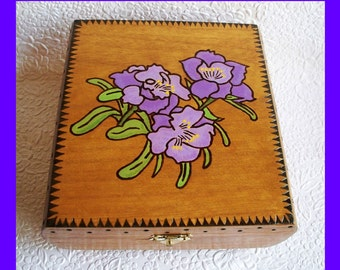 Floral Jewelry Box Lavender Flowers