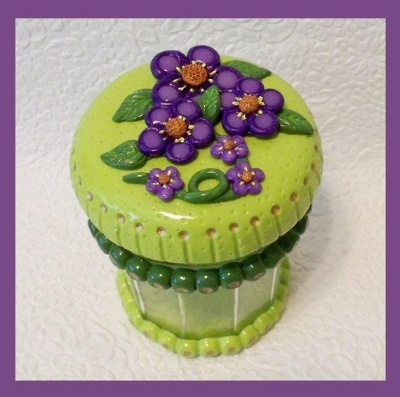 Keepsake Treat Jar / Floral Design