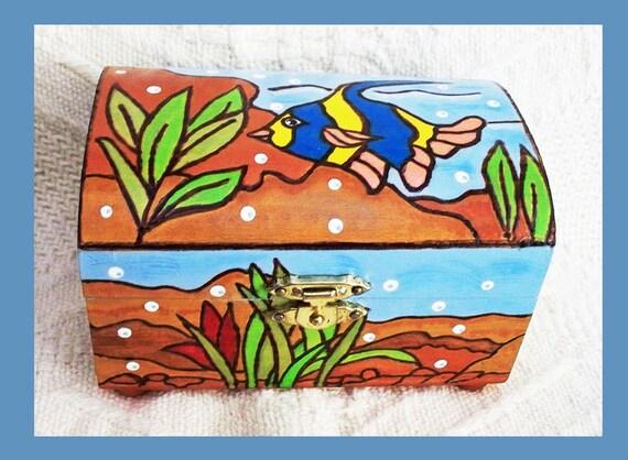 Small  Jewelry Box Under the Sea Design