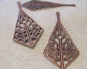 Filigree Dangles in Antique Copper Finish