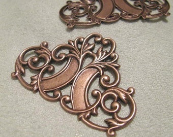 Fancy Filigree Work Copper Finish