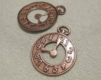Dont Be Late   Make Time for FUN Charms Watch Copper Finish